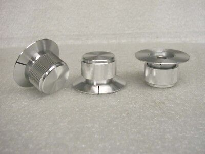 (HIGH QUALITY SOLID ALUMINUM CONTROL KNOBS 1/4 HOLE  - 2 pcs)