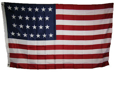 3x5 USA American 26 Star Linear 1837 1845 Historical Flag 3'x5' Banner Grommets
