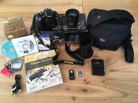 Nikon D5300 Digital SLR Camera HD 1080P 24.2MP Wi-fi with Nikon AF-S DX 35mm f1.8G lens