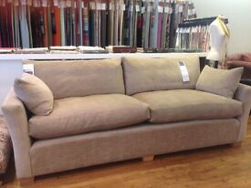 Stunning new and unused Sofa Workshop 4 seater velvet sofa suite (RRP £4357.00)