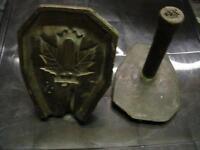 Antique Bronze Canada Badge casting mold  - military badge ? WWI