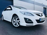 2010 60 Mazda6 2.0 Takuya Hatchback 5dr Petrol Manual (153 bhp) PEARL WHITE WITH 12 MONTHS MOT
