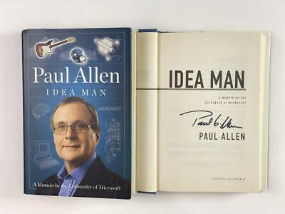 "PAUL ALLEN SIGNED AUTOGRAPH ""IDEA MAN"" BOOK - MICROSOFT CO-FOUNDER, VERY RARE!!"