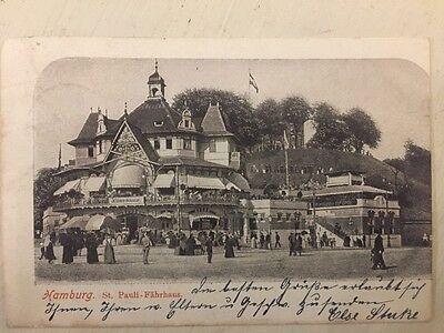 HAMBURG • St. Pauli Fährhaus 20.6.1904 gelaufen HH nach Minden