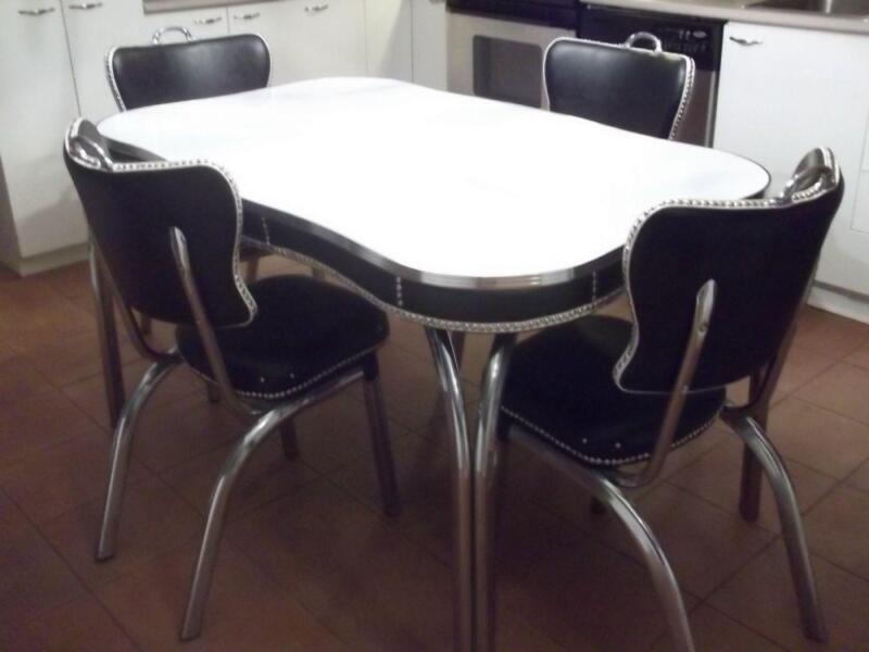 Sets de cuisine retro 50 a 80 39 s mobilier de salle for Table de salle a manger kijiji