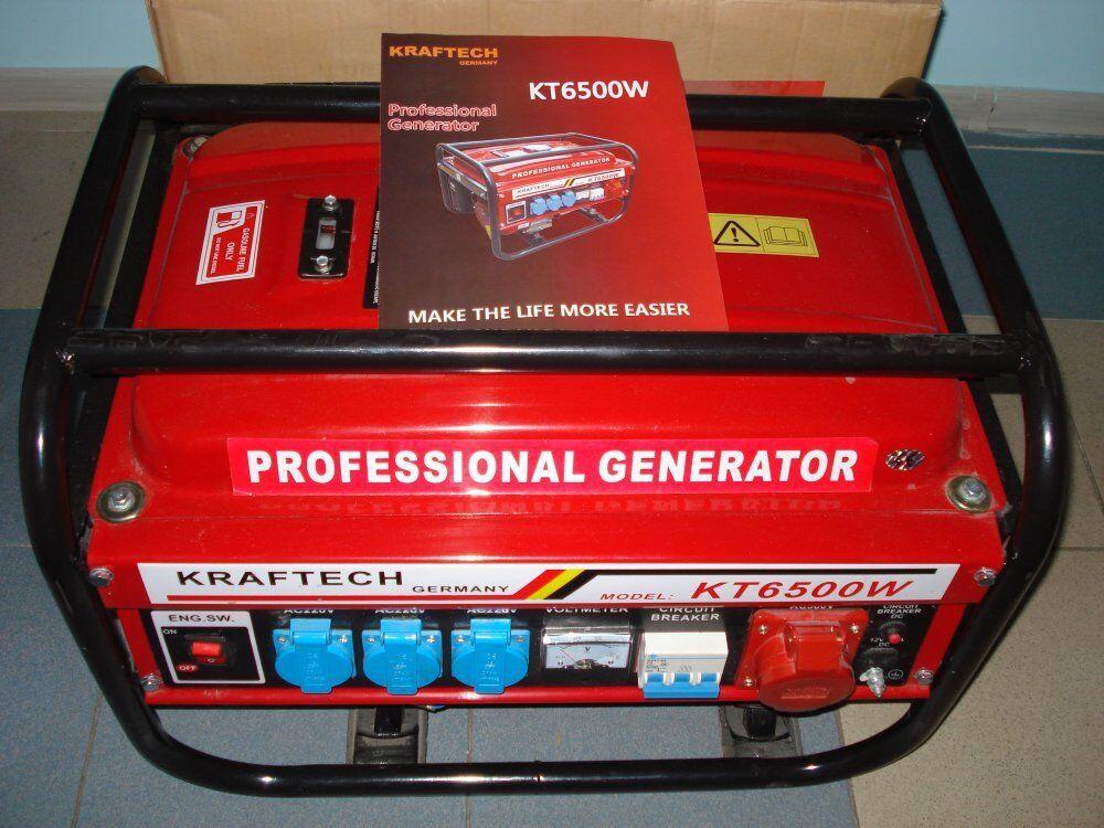 Kraftech germany kt 6500w petrol generator business - Groupe electrogene 380v ...