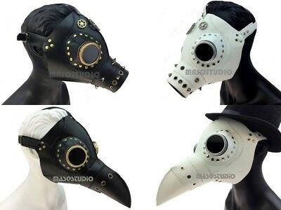 Doctor Halloween Costume Accessories (Plague Doctor Bird Mask Burning Man Halloween Cosplay Costume Steampunk)