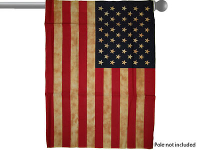 """USA AMERICAN VINTAGE TEA STAINED GARDEN BANNER/FLAG 28""""X40"""" SLEEVED POLY"""
