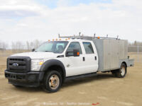 2012 Ford F450 4WD Crew Cab 12' Utility Service Truck 6.7L Diesel Welder bidadoo