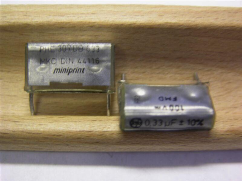 40 Rifa PHE307DB633 .33uF 100V 10% MKC Polycarbonate Box Capacitors