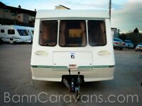 (Ref: 848) Fleetwood Garland 165 5 Luxe 5 Berth Touring Caravan Free Awning