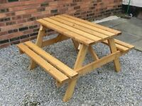 HIGH QUALITY GARDEN / PICNIC TABLES with BENCH SEATS (NEW)