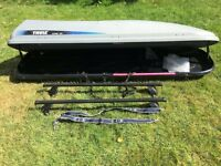 Thule Alpine 500 Roof Box + Roof Rack Bars - Over £400 new