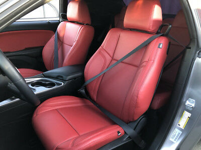 Custom Leather Upholstery - CUSTOM LEATHER UPHOLSTERY FOR DODGE CHALLENGER