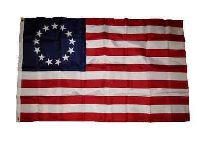 3x5 Betsy Ross 210D Nylon Flag Banner Grommets (210 Denier Stain Guard)