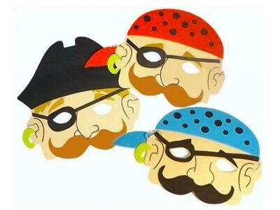 x 24 Jungen Pirat Schaum Masken - Kostüm - Partytüten Mitgebsel - Gesichtsmaske (Schaum Piraten Masken)