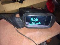 For Sale BMW E46 2003 4door Driver Side Door Mirror Complete Black Breaking
