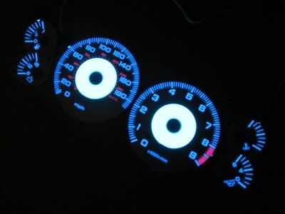 Acura NSX 1992-2002 White Face Reverse Glow Gauges For Cluster Instrument