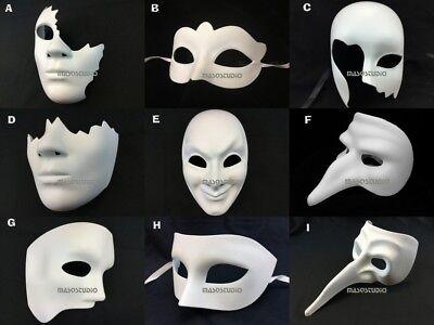 Unpaint Blank White Masquerade Mask DIY Unique Phantom Doctor Long Nose Mask](Unique Halloween Masks)
