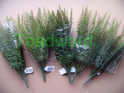 5 künstliche Farn Pflanzen für Aquarien-Terrarien, NEU, Konvolut