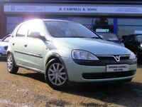 2002 Vauxhall Corsa 1.2 16V 5 Door Hatchback In Green