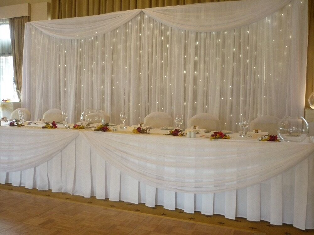 Quality Wedding Backdrop With Star Light Hire In