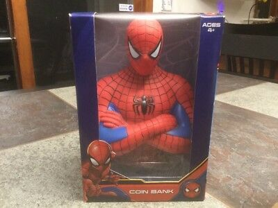 - MARVEL SPIDER-MAN COMIC BANK AGES 4+ BRAND-NEW BUST OF SPIDER-MAN
