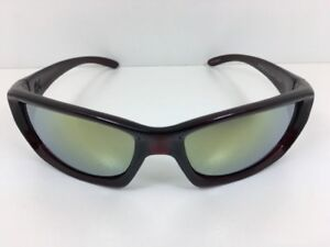 Dragon Chrome Sunglasses Jet Red with Yellow Flash Lens 720-2277 New