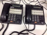 2 x Telephones Panasonic KX-T7431 Digital Super Hybrid System