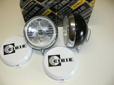 2 Stück Cibie Oscar Zusatzscheinwerfer 180mm Nebelscheinwerfer mit Kappen    NEU