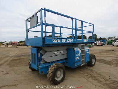 2006 Genie Gs3384 33 Rough Terrain 4x4 Scissor Lift Aerial Manlift Df - Repair
