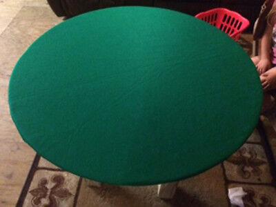 Green Poker Felt Table cover - fits 48