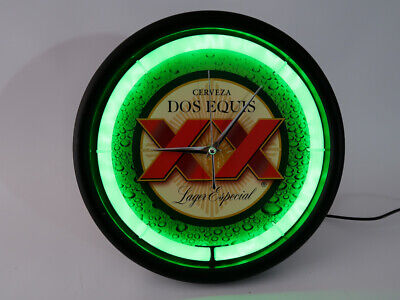 CERVEZA XX Dos Equis Neon Clock / Light Sign Beer Bar