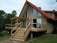 CUSTOM BUILT WATERFRONT HOME ON LARGE LOT IN BRIMLEY MICHIGAN