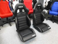 Sparco r100 bucket seats with runners