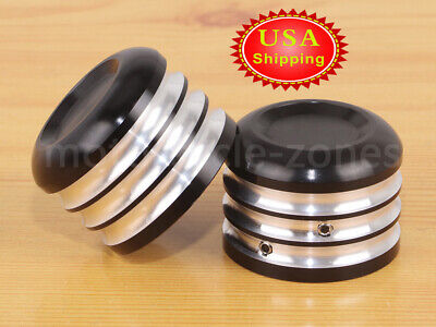 Black Billet CNC Cut Front Axle Nut Cover Bolt Kit For Harley Sportster Softail Billet Front Axle Bolt Covers