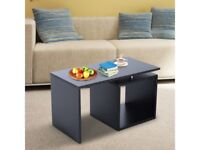 *FAST & FREE DELIVERY* - Modern Coffee Side Table in Black - Brand New