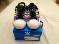 ADIDAS SUPERSTAR VULCAN BLUE SWEDE SIZE 10