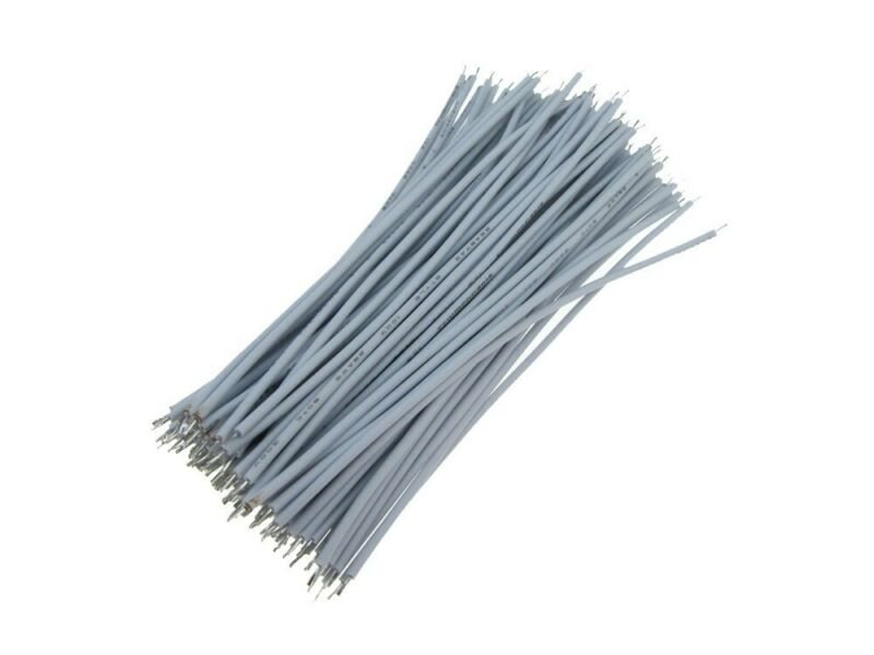 【5CM】 28AWG Standard Jumper Wire Pre-cut Pre-soldered - White - Pack of 100