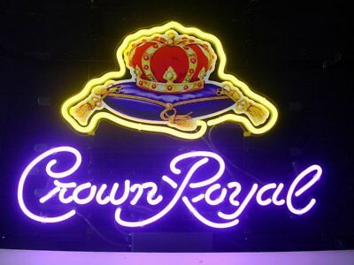 LDGJ Crown Royal Neon Light Sign Home Beer Bar Pub Recreatio