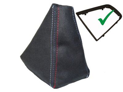 Shift Boot With Plastic Frame For BMW X3 E83 2003-2010 Suede M3 Stitching