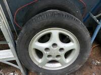 2 Goodyear Eagle on Toyota Aluminum Rims  195 60R 14
