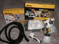 Unused Wagner WallPerfect Spraying System (Wall Paint, Laquer & Glazes) Plus Handle Extension
