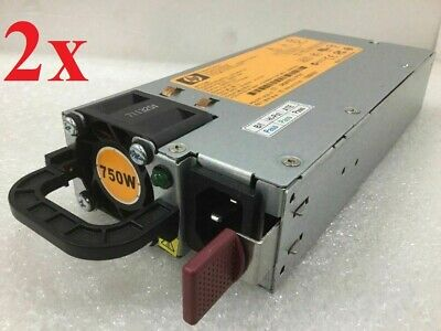 Lot of 2 - HP 750W Server Power Supply HSTNS-PL18 HSTNS-PD18 506821-001 - Assort