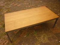 """IKEA Coffee Table """"EKSJO"""" wooden top with metal legs"""