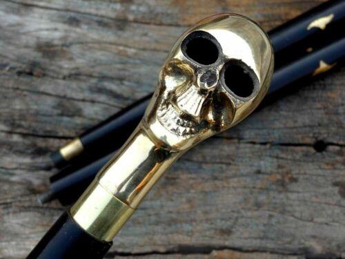 Victorian+Walking+Stick+Derby+Brass+Handle+Black+Wooden+Cane+Handmade+Style+gift