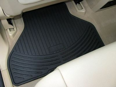 BMW 5 Series E39 Genuine Rubber All Weather Rear Mat Black 82550151197