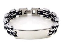 mens ID bracelet new with gift box