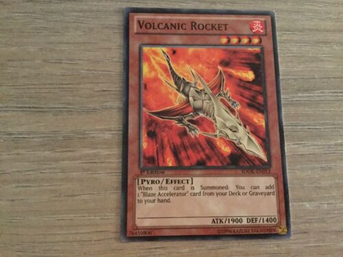 1st Edition Yugioh Volcanic Rocket SDOK-EN013 Common