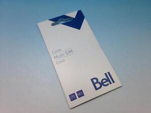 Liquidation Carte Sim pour téléphone cellulaire Bell - Virgin mobile